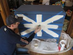 Union Jack dresser tutorial