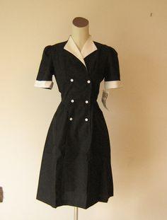 vintage waitress uniform - dress / Mint Green - spearmint / 1950&39s ...