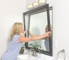 Merveilleux Before And After: Add A MirrorMate Frame To The Medicine Cabinet And Cover  Desilvering Edges. | Home Imrpovement | Pinterest | Medicine Cabinets,  Medicine ...