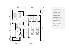 DOM.PL™ - Projekt domu NA FX-60 CE - DOM NA1-44 - gotowy koszt budowy Modern House Facades, Facade House, Floor Plans, House Design, Flooring, Inspiration, How To Plan, Minimal, Home Architecture