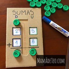 Toddler Learning Activities, Montessori Activities, Teaching Kids, Kids Learning, Kindergarten Math Games, Kids Math Worksheets, Preschool Math, First Grade Reading, First Grade Math