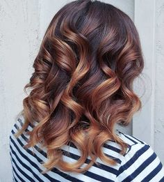 Copper tones are warm and work so well in the fall.  Natural looking shades look fab and amazing.