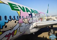 Hello! for all you Hello Kitty fans.  Last month LAX made its Hello Kitty airplane themed debut on Taiwan's national carrier, Eva Air. Eva Air had these Kitty planes flying already to and from Taipei to other Asian cities but this is Eva's first entry in the US with the themed plane. A male coworker of mine just flew on it recently and he sounded incredulous with Hello Kitty being adorned EVERYWHERE!