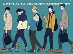 Manga Boy, Manga Anime, Anime Art, Haikyuu Fanart, Haikyuu Anime, Kenma, Kageyama, Character Art, Character Design