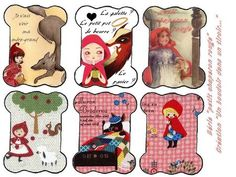 chaperon rouge - embroidery floss cards