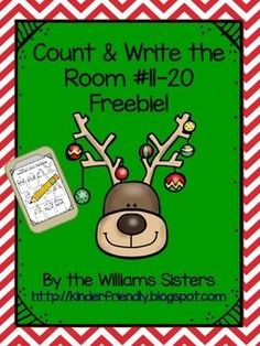 Hi Teacher Friends! Here is a Christmas gift for you and your students. This count and write the room freebie is a favorite with the kindergarten kids. We hope your students enjoy it and have lots of fun practicing those numbers 11-20. It is our way of saying thank you for