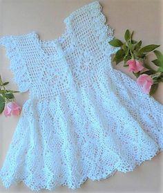 Crochet Christening Patterns, Baby Dress Patterns, Free Crochet Doily Patterns, Crochet Designs, Baby Knitting, Crochet Baby, Thread Crochet, Filet Crochet, Beautiful Crochet