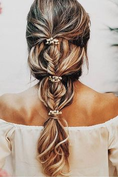 34 Beautiful Braided Wedding Hairstyles for the Modern Bride Bridesmaid Hair Updo beautiful braided bride Hairstyles modern wedding Bridal Ponytail, Bridal Hair Braids, Formal Ponytail, Pretty Braided Hairstyles, Gorgeous Hairstyles, Elegant Hairstyles, Down Hairstyles, Greek Hairstyles, Bride Hairstyles