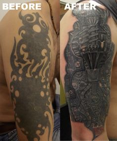 before and after tattoo cover ups | BEFORE AND AFTER TATTOO
