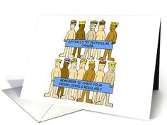 Humorous testicular cancer checks awareness card . card