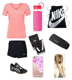 """Volleyball Practice"" by heyitsizzy22 on Polyvore featuring NIKE, Asics, Kate Spade, Under Armour, Casetify and Casall"