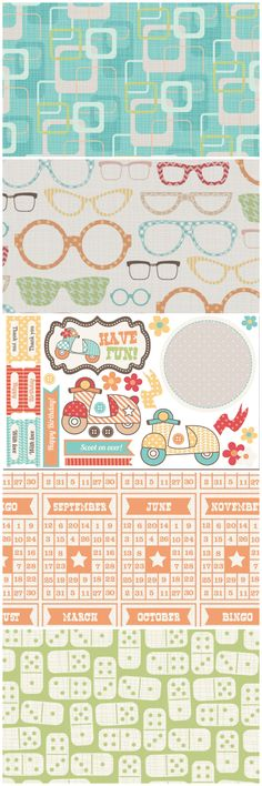 Go vintage with these retro FREE digital paper designs from Papercraft Inspirations 121! Download them now and use them on your card and scrapbook creations!