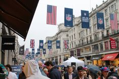 NFL UK Flags, Banners, Times Square, Nfl, Street View, Things To Come, World, Travel, Viajes