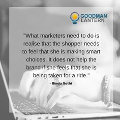"""""""What marketers need to do is realise that the shopper needs to feel that she is making smart choices. It does not help the brand if she feeld that she is being taken for a ride."""" Bindu Sethi"""