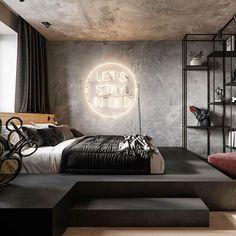 Men's Bedroom Ideas Masculine Interior Design – Home Decor İdeas Modern Room Design Bedroom, Modern Bedroom Design, Home Room Design, Contemporary Bedroom, Home Decor Bedroom, Bedroom Ideas, Modern Decor, Modern Mens Bedroom, Modern Furniture
