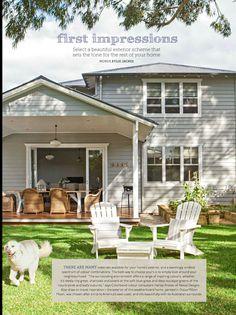 Weatherboard, deck - Home Beautiful April 2014