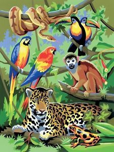 acrylic paintings of jungle animals | Crafts > Painting, Drawing & Art > Painting Supplies > Acrylic Paints