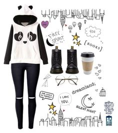 """""""Creative city"""" by thaisa1989 ❤ liked on Polyvore featuring Dr. Martens, OUTRAGE, ...Lost, Garcia, Silent Night and INDIE HAIR"""