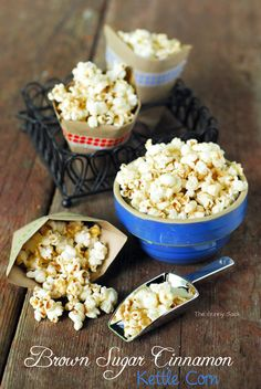 Homemade Brown Sugar Cinnamon Kettle Corn Recipe via thegunnysack.com