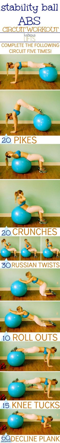 Stability Ball Abdominal Circuit Workout