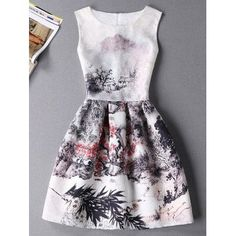 SHARE & Get it FREE | Stylish Oil Painting Print Sleeveless Round Neck Women's DressFor Fashion Lovers only:80,000+ Items·FREE SHIPPING Join Dresslily: Get YOUR $50 NOW!
