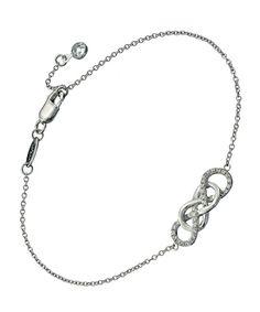 Lafonn Silver Double Infinity Bracelet #maxandchloe