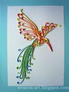 Paper Quilling - bird - u - Diy How to Crafts Quilling Butterfly, Quilling Paper Craft, Paper Crafts, Diy Paper, Quiling Paper, Quilled Paper Art, Quilling Patterns, Quilling Designs, Quilling Ideas