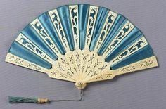 omgthatdress:    Fan ca. 1870-1880 via The Museum of Fine Arts, Boston
