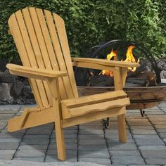 $54.95 FREE Shipping  Outdoor Adirondack Wood Chair Foldable Patio Lawn  Deck Garden Furniture   PAINT
