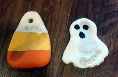 It's Wyatt's first Halloween so I wanted to make a cute keepsake craft with him. I found a recipe for salt dough, and thought it would be so cute to make prints of his little feet. The blo...