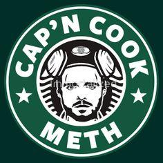 Bad Break - Cap'N Cook Meth - Starbucks Coffee Logo Mash Up by Immortalized