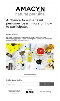 A chance to win a perfume- Learn more on how to participate. Perfume Collection, Mind Body Spirit, Learning, Natural, Teaching, Studying, Nature