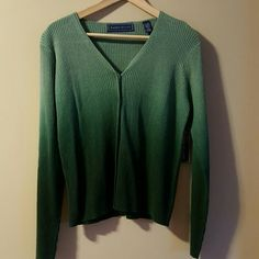 Karen Scott Ombre Sweater Green Ombre Button Down Sweater Karen Scott Sweaters Cardigans