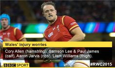 Wales injuries worsen cory allen out for rest of tournament