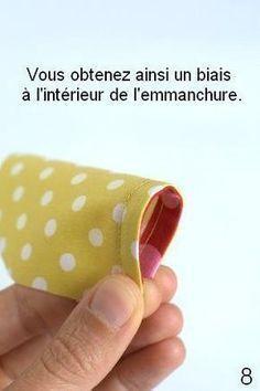 """tuto : """"Coudre un biais sur l'intérieur d'un vêtement"""" par froufrou et capucine ♥ #epinglercpartager"""