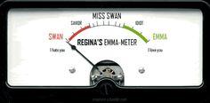 """Regina's """"Swan"""" meter lol"""