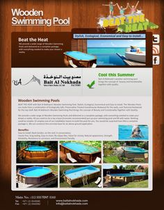 Cool this summer with Wooden Swimming Pools