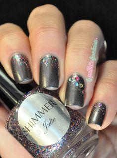 pretty serious gargoyle ganache - shimmer polish julie