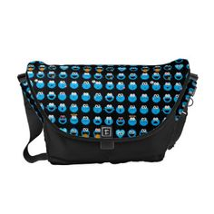 Cookie Monster Emoji Pattern Courier Bag