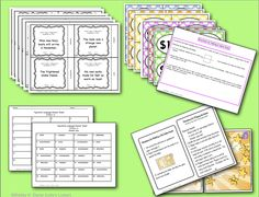 Learning about Figurative Language can be FUN with this packet.     The printable pack includes 24 self checking task cards, directions, a student answer sheet, answer key, game show template, and a file folder game board. The task cards feature similes, metaphors, alliteration, personification and onomatopoeia.
