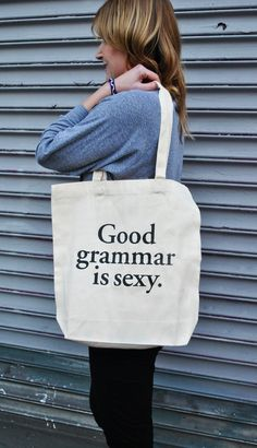 Good Grammar is Sexy Tote Bag | Studio Nico Shop