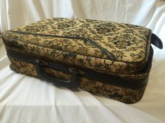 CARPET BAG SUITCASE, Vintage Mid Century Suitcase, Vintage floral suitcase, suitcase with floral tapestry,Vintage travel case,Retro suitcase by TheJellyJar on Etsy