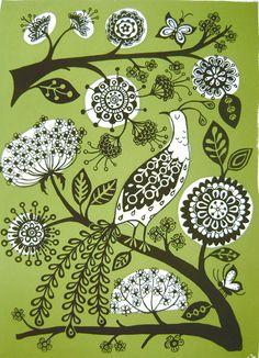Creative Sketchbook: A Sprinkle of Spring by Ruth Green! Pattern Design, Print Design, Graphic Design, Scandinavian Folk Art, Craft Fairs, Midcentury Modern, Print Patterns, Flower Patterns, Screen Printing