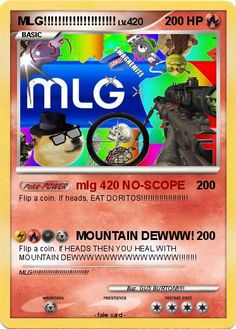 Pokémon MLG 342 342 - mlg 420 NO-SCOPE - My Pokemon Card