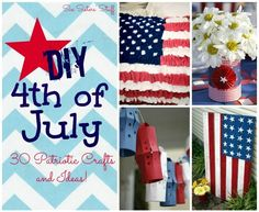 Put your patriotic spirit on with creative of July crafts! These inspiring patriotic craft ideas are easy red- white-and-blue ! :) To start, transfor Patriotic Crafts, Patriotic Party, July Crafts, Holiday Crafts, Holiday Fun, Patriotic Wreath, Summer Crafts, Holiday Ideas, 4th Of July Celebration