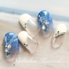 夏の海の水面イメージ 暑くて涼しげなサンプル作りたくなります #nail #nails #nailart #nailswag #naildesign #nailsalon #himmel #nailartist #summernails #beachnails #bluenails #resortnail #ネイル #ネイルアート #ネイルサロン #ヒメル #ネイリスト #夏ネイル #海ネイル #ビーチネイル #リゾートネイル #ラグーンネイル #水面ネイル #ブルーネイル #爽やかネイル #美甲