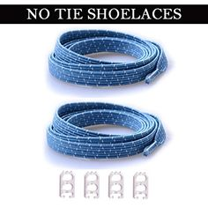 DB LOCK LACES (Elastic No Tie Shoe Laces)One Size Fits All Adult and Kids Sky Blue Reflective