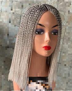 Short Braids, Small Braids, Braids Wig, Short Curly Hair, Curly Hair Styles, Curl Styles, Wig Styles, Twisted Hair, Headband Wigs