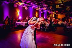 Skybox Banquet Room with uplighting & lanterns at Metropolis Resort in Eau Claire. Photo by: [V]Imagery + Design