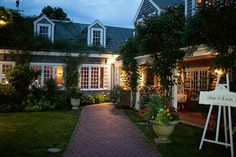 The Chanticleer on Nantucket - we just biked past this restaurant (its in s'conset)